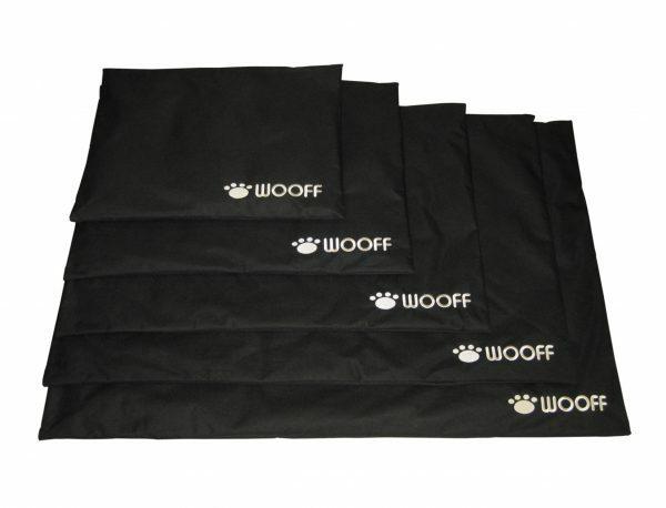 Platte matras Wooff zwart 45x60 cm