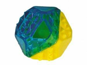 Speelgoed hond Cooltoy diamant blauw/geel 7,7cm