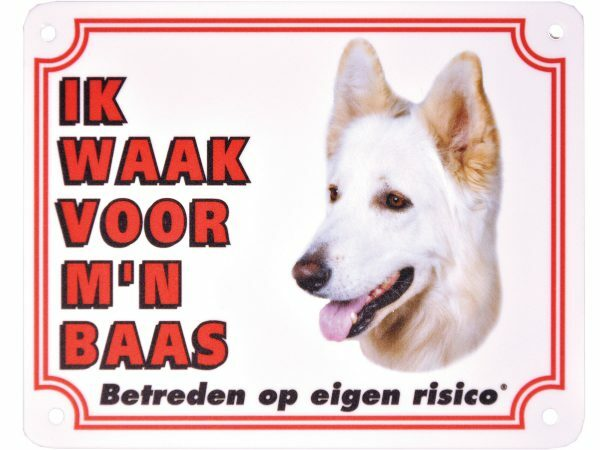 Waakbord S Zwitserse witte herder NL
