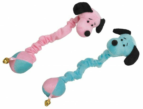 Speelgoed kat pluche hond Dafy met catnip 14cm