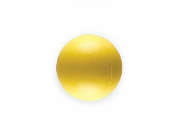Speelgoed hond rubber bal geel Ø5cm