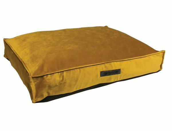 Matras Wooff fluweel geel 110x70x15cm