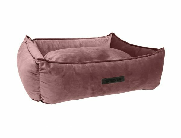 Hondenmand Wooff fluweel Blush 70x60x20cm