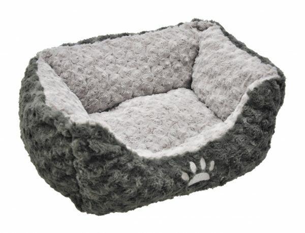 Hondenmand fleece Modern antraciet/grijs60x48cm
