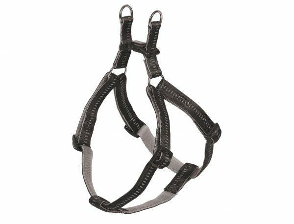 Harnas hond nylon Soft Grip zwart 10mmx30-40cm