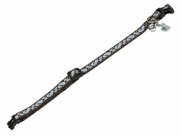 Halsband kat verstelbaar oceaan 10mmx20-30cm