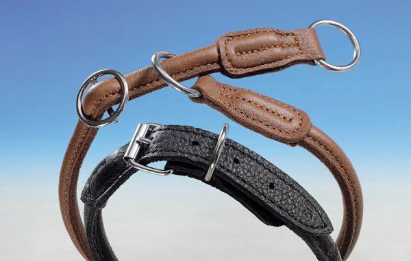 Halsband elandleder 70 cm zwart