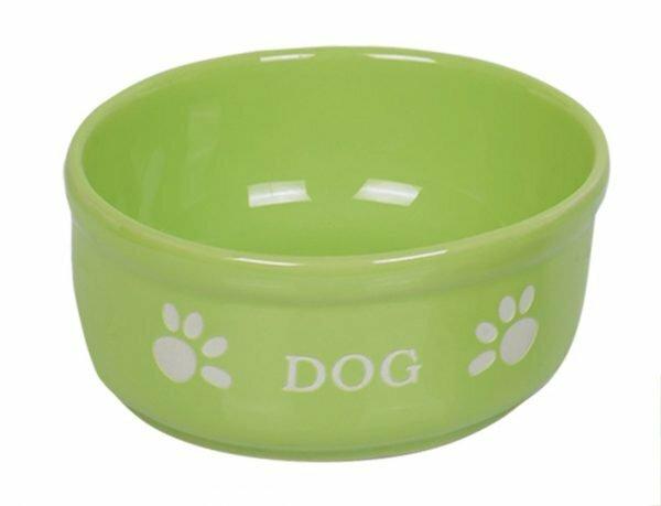 "Eetpot hond aardewerk ""Dog"" lichtgroen Ø15,5cm"