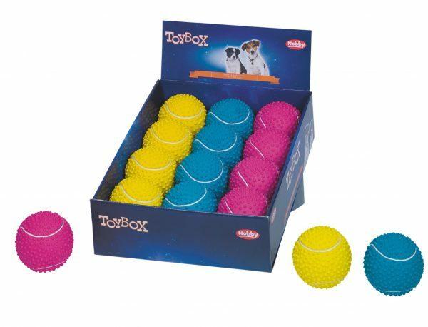 DIS12 Speelgoed hond latex tennisbal Ass. 9cm