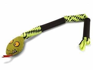 Speelgoed hond groene slang  66cm