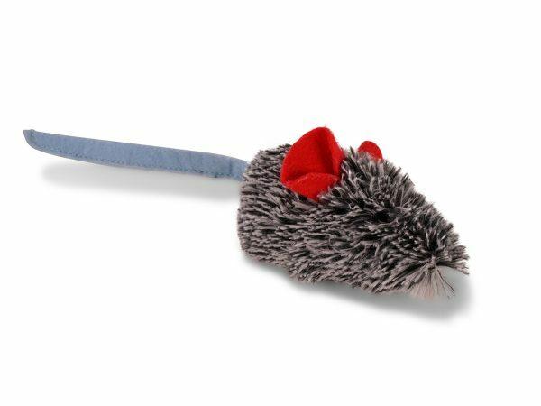 Speelgoed kat pluche muis Franka grijs 22cm
