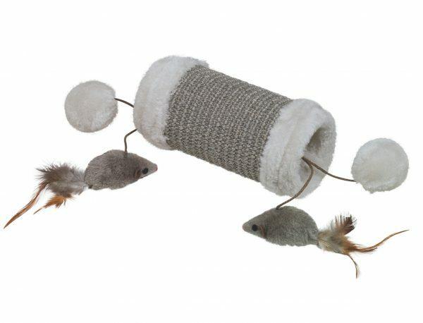 Krabplank cilindrisch Eline grijs 9x9x19cm
