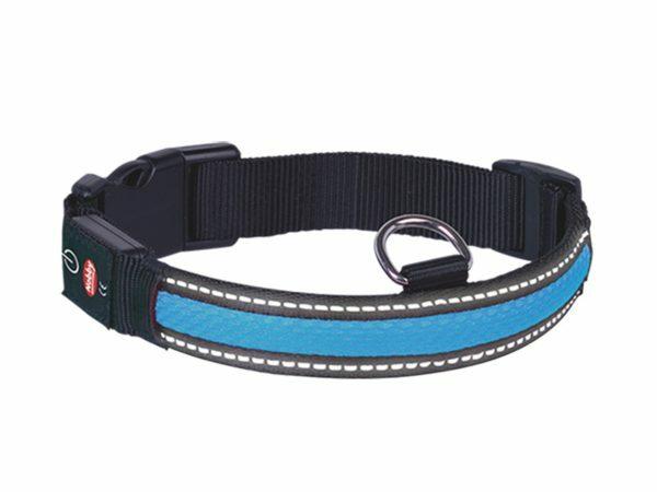 LED Halsband Flash Mesh blauw L 45-63cmx25mm USB