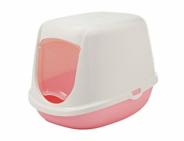 Toilethuis Duchesse wit/roze 44,5x35,5x32cm