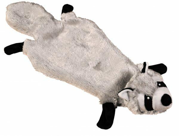 Speelgoed hond pluche wasbeer lichtgrijs 51cm