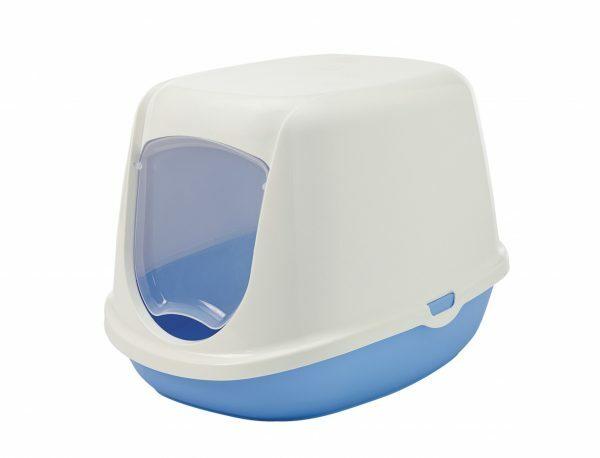 Toilethuis Duchesse wit/blauw 44,5x35,5x32cm
