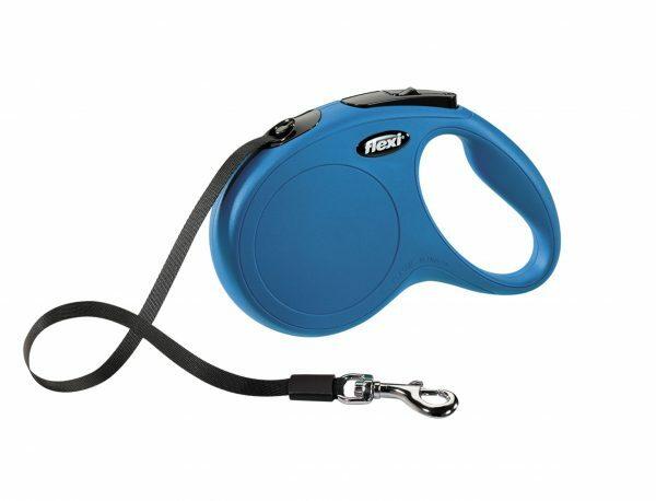 Flexi Classic blauw M (riem 5 m)