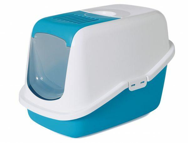 Toilethuis Nestor wit/blauw 56x39x38,5cm