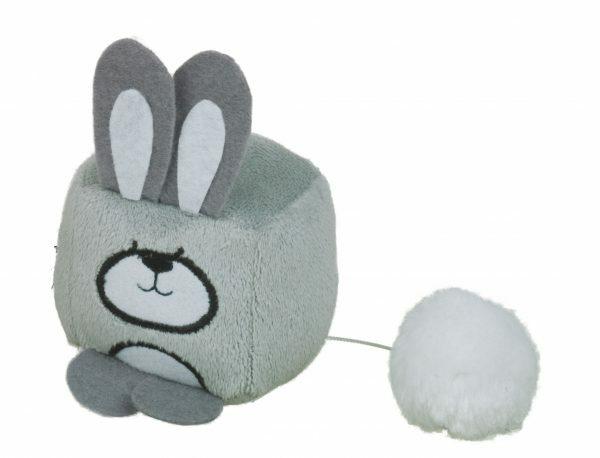 Speelgoed kat konijn Kurby grijs 6cm