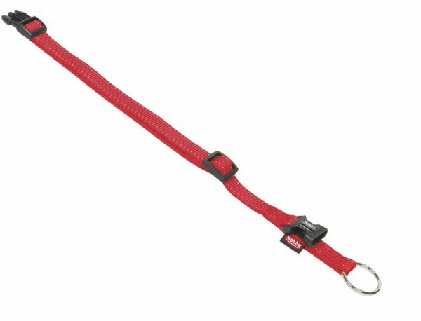 Halsband classic nylon Reflect rood 25mmx50-65cm