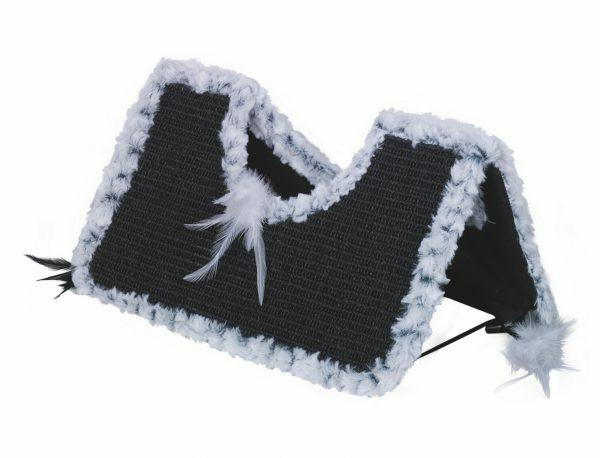 Krabplank Roof Astra zwart/wit 44x22x20cm