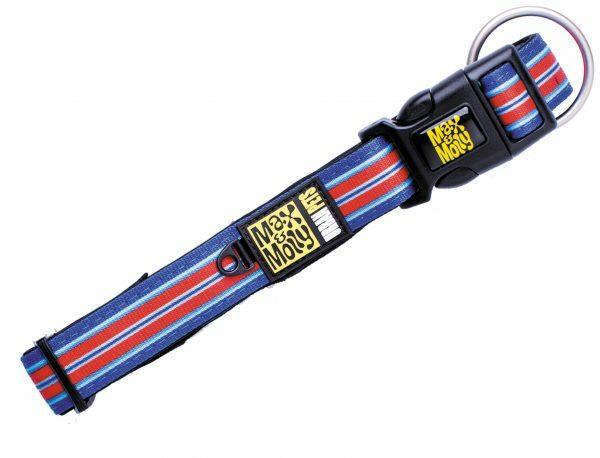 Halsband Hampton Strip Blue XS 10mmx22-35cm