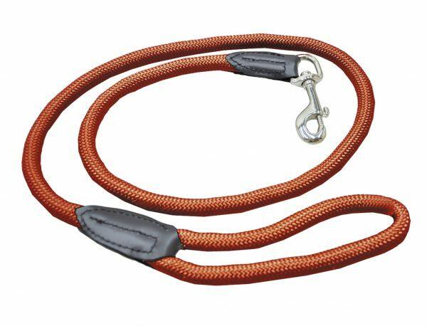 Leiband nylon rond terracotta 9mmx120cm