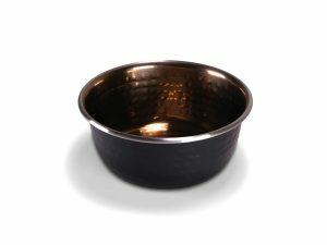 Eetpot Selecta zwart en gehamerde koper 950ml