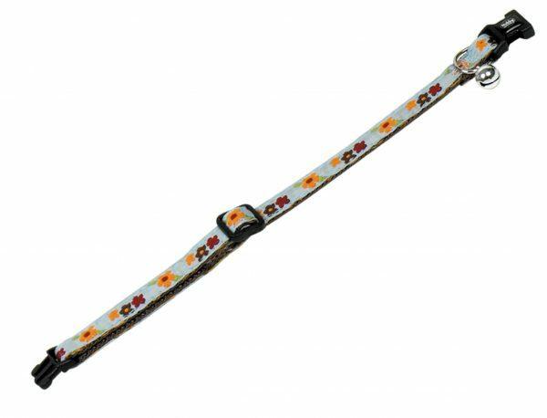 Halsband kat verstelbaar bloem 10mmx20-30cm
