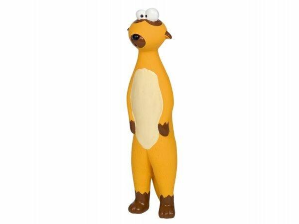 Speelgoed hond latex wezel 22cm