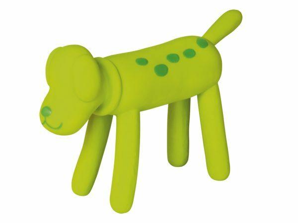 Speelgoed hond latex Standing hond groen 21cm