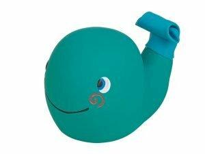Speelgoed hond latex walvis blauw 13cm