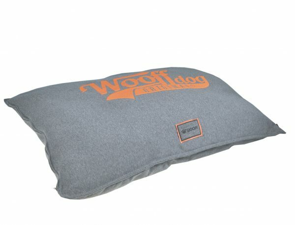 Kussen comfort Wooff Jersey grijs/koraal 100x70cm