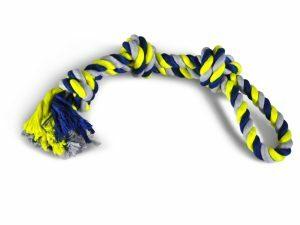Katoenen koord 3 knopen blauw-geel 600g 60cm
