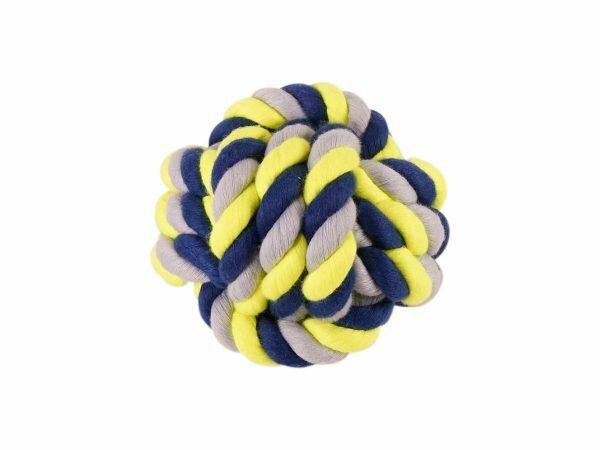 Katoenen bal blauw-geel 485g Ø15cm