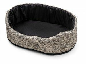 Hondenmand Winter grijs 40x25x18cm