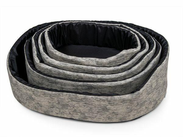 Hondenmand Winter grijs 70x50x22cm