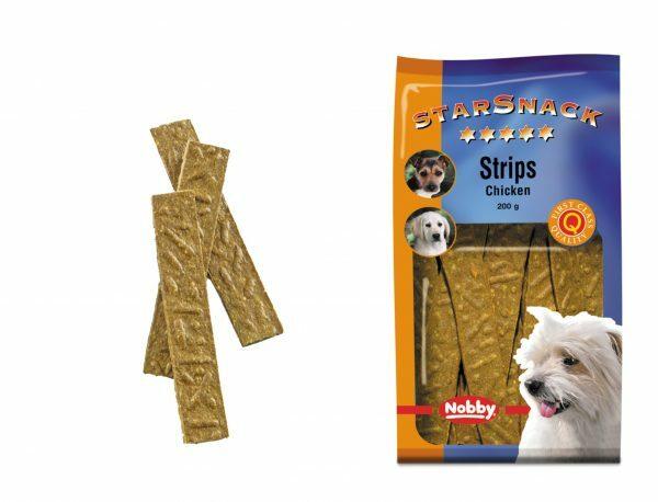 Snack hond strips kip 200gr