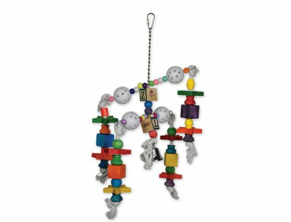 Speelgoed vogel draaiende blokjes multikleur 42cm