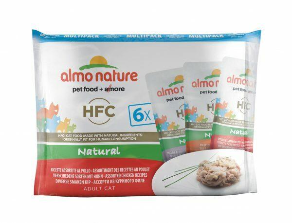 HFC Cats 55g MultiPack Natural - kip recepten