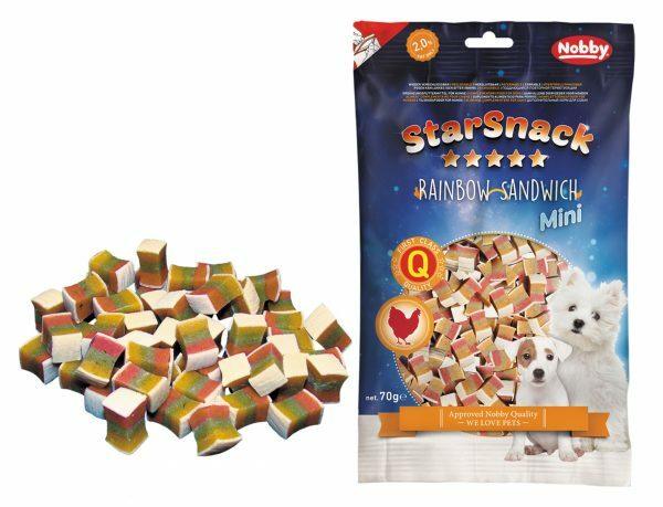 Snack hond mini regenboog sandwich 70gr