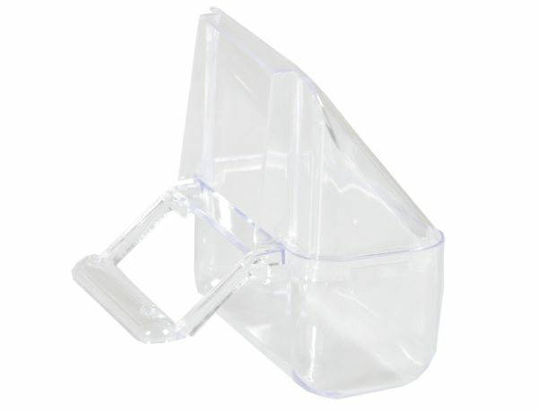 Eetbak plastiek transparant kanarie (2) 75ml