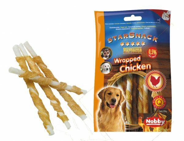 Snack hond kip stick omwikkeld 70gr/12,5cmxØ7-8mm
