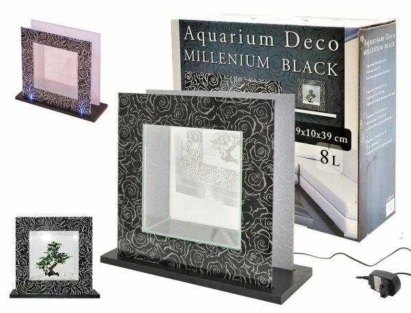 Aquarium Millenium wit/zwart 39x39x12cm 8L