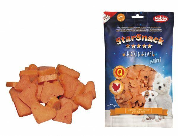 Snack hond mini kip hart 70gr
