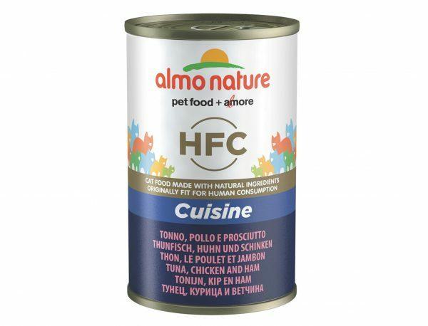 HFC Cats 140g Cuisine - tonijn, kip en ham