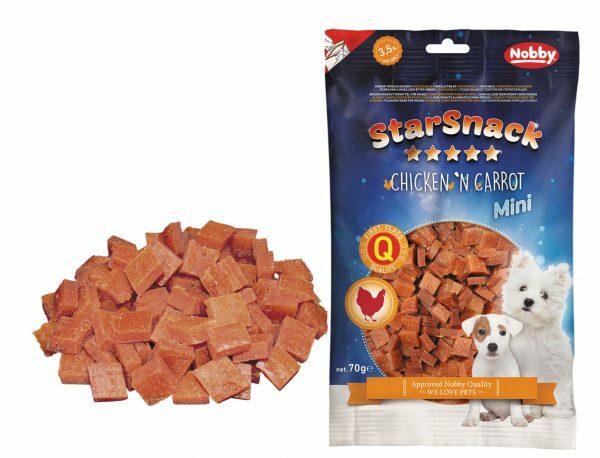 Snack hond mini kip en wortel 70gr