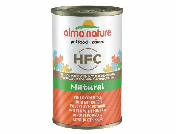 HFC Cats 140g Natural - kip met pompoen