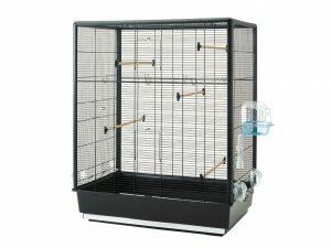 Kooi kleine vogel Primo 60 zwart-zwart 80x50x115cm