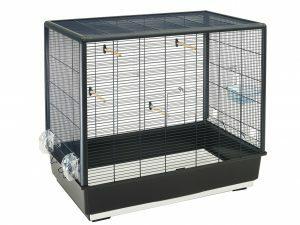 Kooi kleine vogel Primo 60 zwart-zwart 80x50x70cm